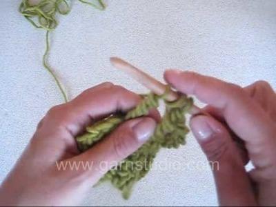 DROPS Crochet Tutorial: How to crochet triple treble US. Quadruple treble UK
