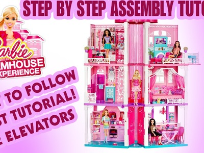 HOW TO ASSEMBLE the 2015 BARBIE DREAMHOUSE tutorial FROM MATTEL DIY step by step