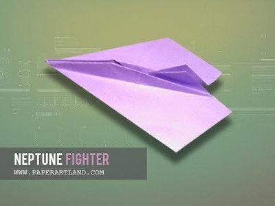 How to make a Paper Airplane that flies SLOWLY | Neptune Fighter ( Tri Dang )
