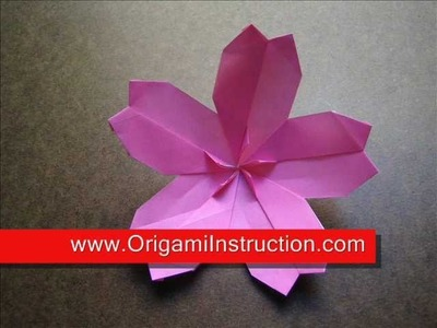 How to Make an Origami Modular Cherry Blossom