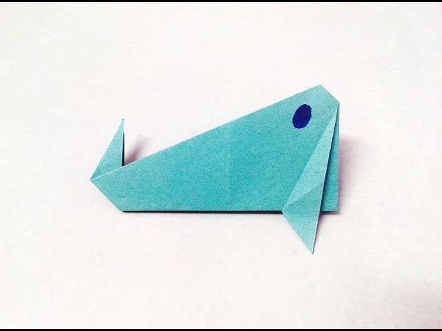 How To Make An Origami Paper Whale Origami Paper Folding Craft