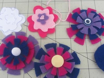 How to Make Felt Flower Embellishments EASY Tutorial