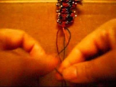 How To Make Macramé Beaded Earrings-2.