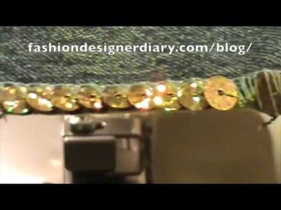 How to used the beading foot