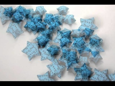 It's a Boy! Blue Origami Lucky Stars by Meligami