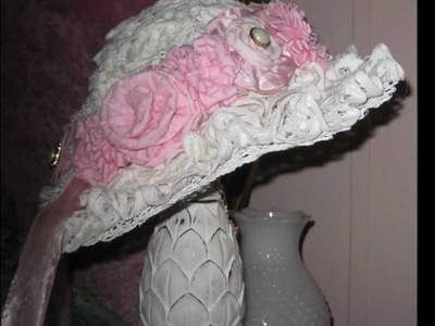 Linda's Rose Craft Floral Victorian Hat & Stand