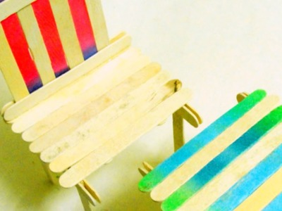 Make a Popsicle Stick Chair and Table Set - Crafts - Guidecentral