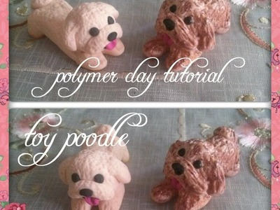 Miniature toy poodle- Polymer clay tutorial. Easy. DIY