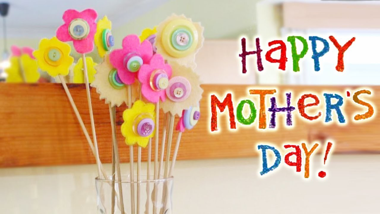 Mother's Day Button Bouquet | Mother's Day Crafts | Mother's Day Gift Ideas