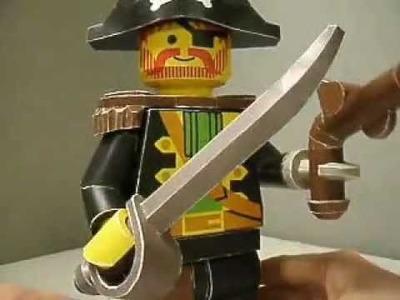 Papercraft LEGO Captain Redbeard