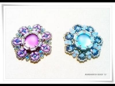 Tutorial perline come fare un ciondolo Urania - beads tutorial how to bezel