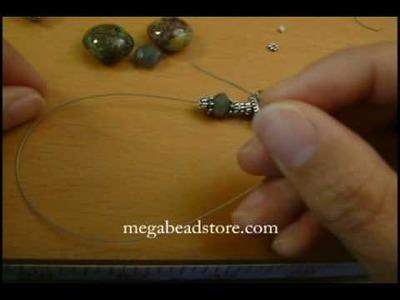 Bali Bead and lampwork Bead Bracelet by Megabeadstore