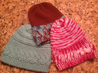 Banded Cable Knit Hat by to by the Stitch Niche