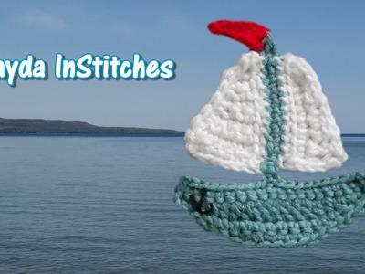 Crochet Sailboat Applique Tutorial - Crochet On The Run!
