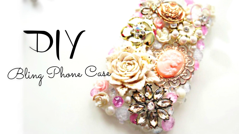 DIY Cute Bling Deco Phone case