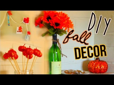 DIY Fall Decorations - Tumblr Inspired ft Wine Bottle Vase   itsLyndsayRae
