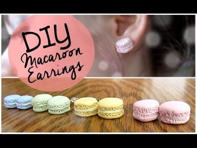 DIY Macaroon Earrings