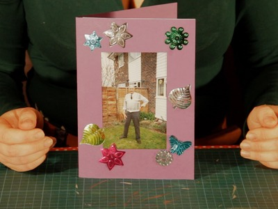 How to make a Photo Frame Christmas Card - *Extra Easy simple* Cardmaking Craft Project