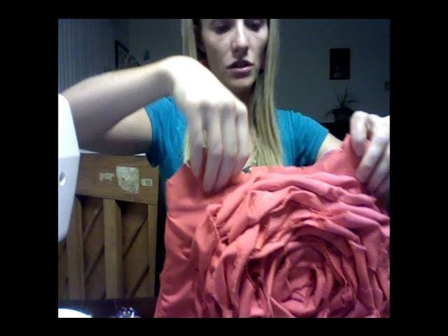 How to - Rosette Flower Purse - hand bag tutorial woohoo! part 2 of 3