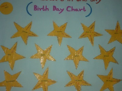Make a Birthday Chart for Children - DIY Crafts - Guidecentral