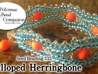 Make Scalloped Herringbone Stitch Jewelry