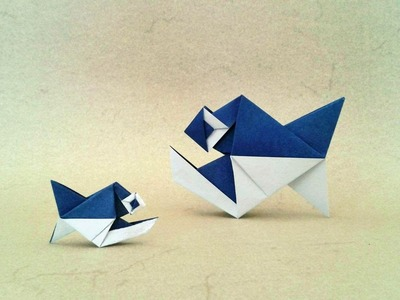 Origami Piranha Fish (Alexander Kurth) Tutorial