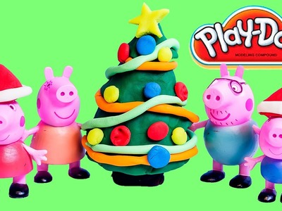 Play Doh Peppa Pig Christmas Tree Play-Doh Crafts Xmas How To Decorate a Christmas Tree Peppa