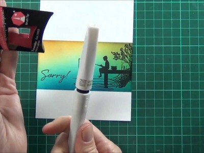 Silhouettes and Distress Ink - tutorial for Scrapbook Boutique!