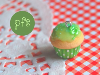 DIY ♣ 4-Leafed Clover Cupcake Polymer Clay Charm Tutorial