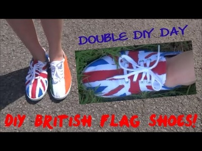 DOUBLE DIY DAY #5: One Direction Concert Shoes! (Union Jack)