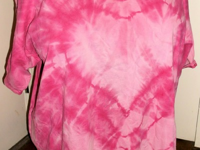 How to Bleach Tie Dye a Heart Shirt