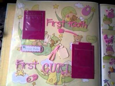 My first scrapbook for a baby girl