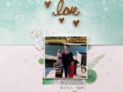 Scrapbooking Process Video: Love (December Hip Kit)