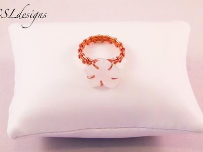 Wirework flower ring