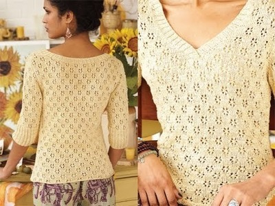 #20 Lace Pullover, Vogue Knitting Early Fall 2010