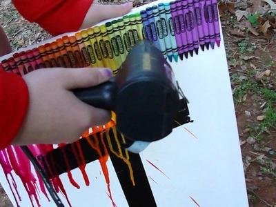 Crayola Melting Crayon Art Tutorial