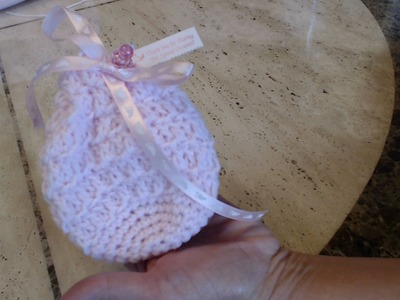 Crochet Baby Shower Favor Bag DIY Tutorial