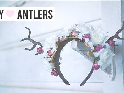 Deer Antler DIY Floral Headband