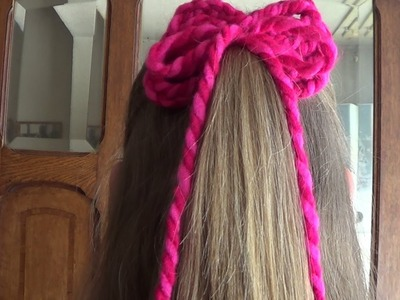 Easy Crochet Hairbow -  How To