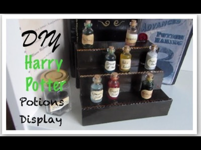 Harry Potter DIY potions stand I Quick and Easy Harry Potter Home Decor Idea!
