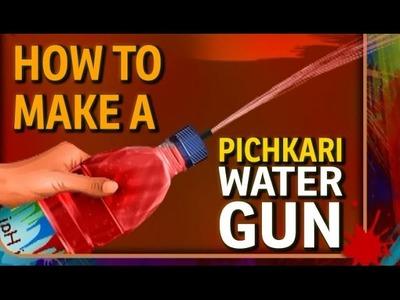How to make a Water Gun - Plastic Bottle Pichkari (Holi Art and Craft)