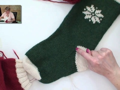 Learn to Knit a Christmas Stocking - Part 4