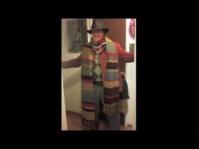 Making of the fourth Doctor Who scarf