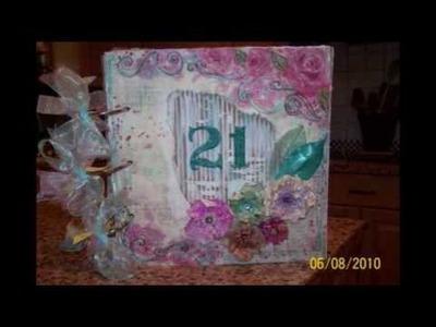 "Scrapbooking.com - August 2010 - Albums Article, ""21st Bithday Album"" By: Pamela Pemsler"