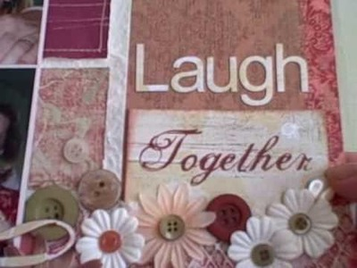 "Scrapbooking Page Video Tour ""Laugh Together"" by Sunday"