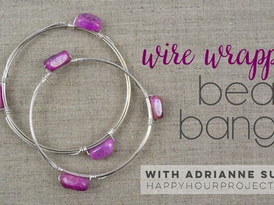 Wire Wrapped Bead Bangle