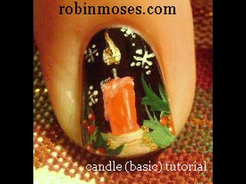 1 Nail Art Tutorial | DIY Easy Xmas Nail Design | Christmas Candle Tutorial