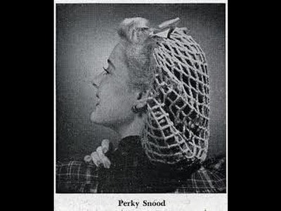 1940's  VINTAGE Perky Snood Crochet Tutorial