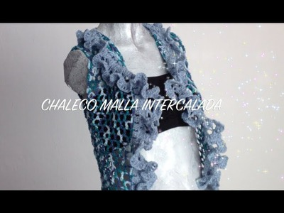 3 DE 3 COMO TEJER CHALECO MALLA INTERCALADA GANCHILLO CROCHET