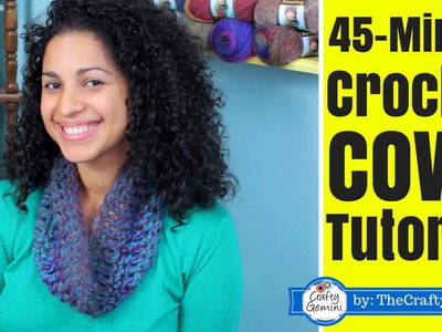 45-minute Crochet Cowl Tutorial- Lion Brand Yarn